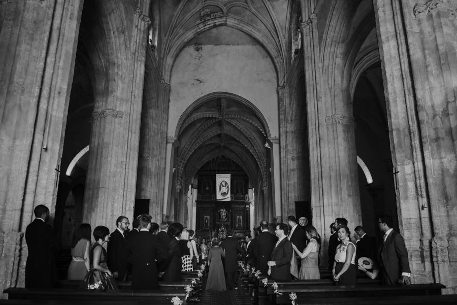 boda en vejer, iglesia de san salvador.